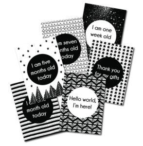 BABY-MILESTONE-CARDS-MONOCHROME-Acorn-Pip-1